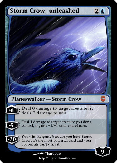 Storm Crow, unleashed by Sylux | MTG Cardsmith Planeswalker Art