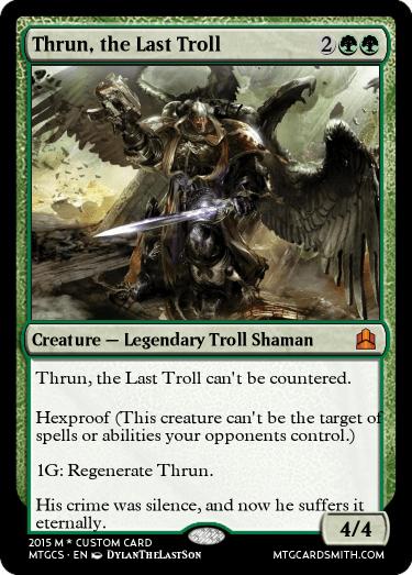 thrun the last troll