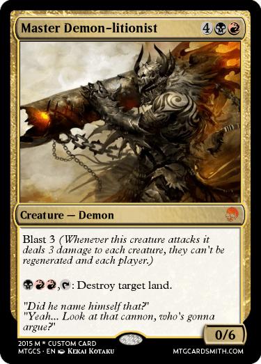 Master Demon-litionist by Suicidal_Deity | MTG Cardsmith Planeswalker Art