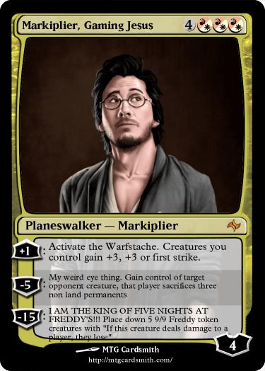 Markiplier, Gaming Jesus by JaceDector16 | MTG Cardsmith