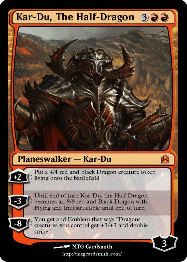 Kar-Du, The Half-Dragon by Destroyosaur97   MTG Cardsmith