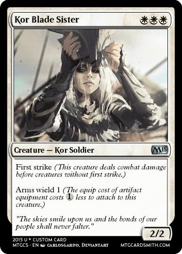 Kor Blade Sister By Mana M0nger Mtg Cardsmith
