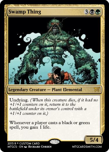 swamp thing by biblio mtg cardsmith