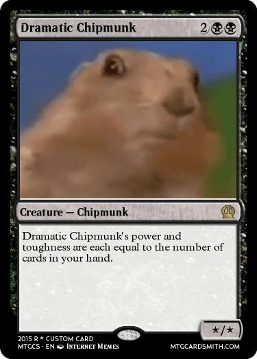 Dramatic Chipmunk by Biblio | MTG Cardsmith