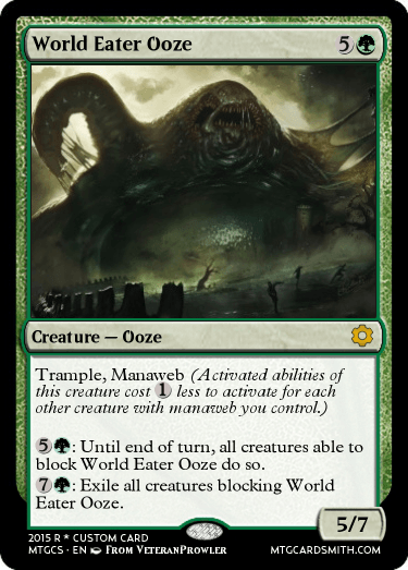 World Eater Ooze by AtheraCollaborationSet   MTG Cardsmith Planeswalker Activated Abilities