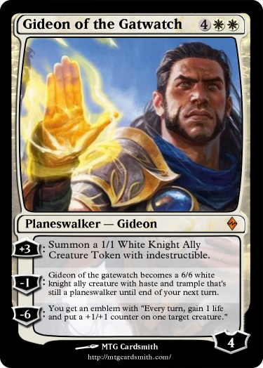 Gideon of the Gatwatch by Fromnono | MTG Cardsmith Planeswalker Ally Deck