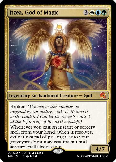 Itzea God Of Magic By Noobplayzgames Mtg Cardsmith