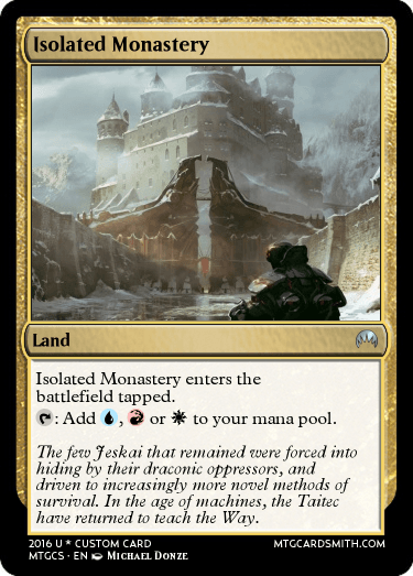 Isolated Monastery by Lsas | MTG Cardsmith Planeswalker Art