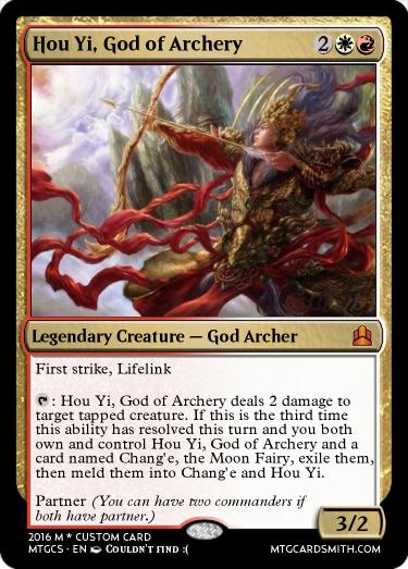 Hou Yi God Of Archery By Flatfish Mtg Cardsmith