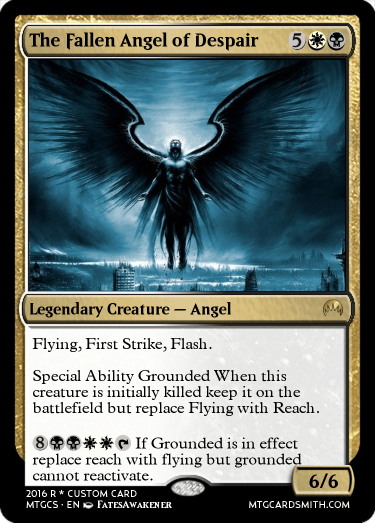 The Fallen Angel of Despair by FatesAwakener | MTG Cardsmith