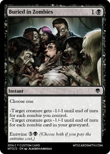 Buried in Zombies by barchae | MTG Cardsmith