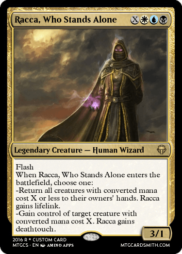 Racca, Who Stands Alone