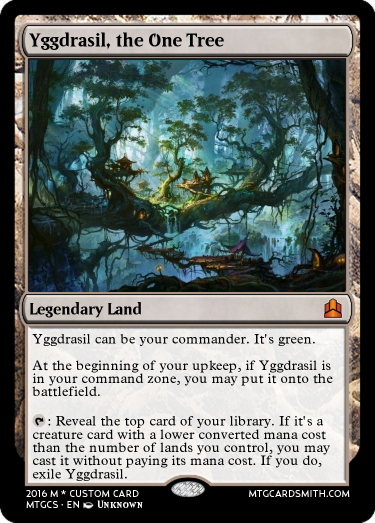 Yggdrasil, the One Tree