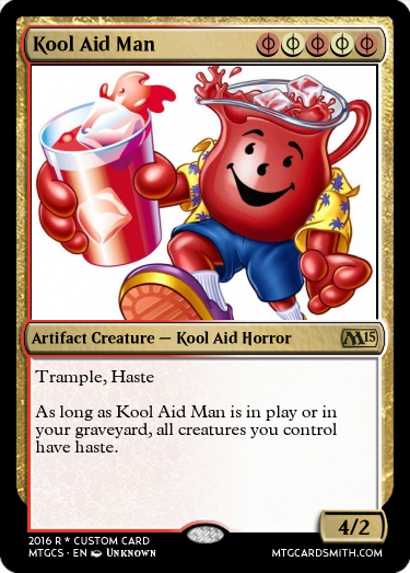 Kool aid man by death methods mtg cardsmith for Kool aid man coloring pages