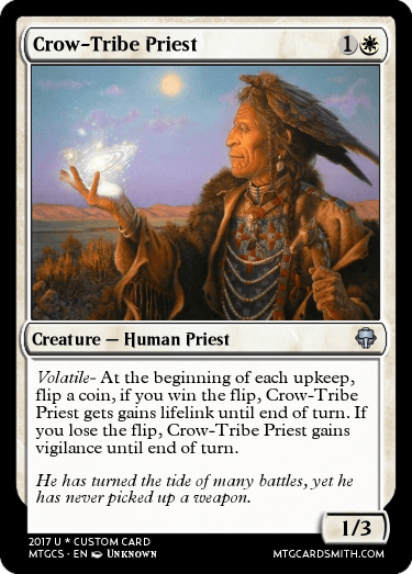 Crow Tribe Priest By Krampiszman Mtg Cardsmith