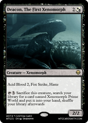 Deacon, The First Xenomorph by Eagleclaw250 | MTG Cardsmith