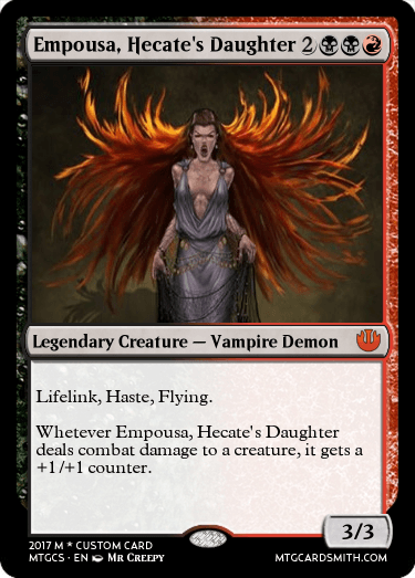 Empousa, Hecate's Daughter by MrCReepy | MTG Cardsmith