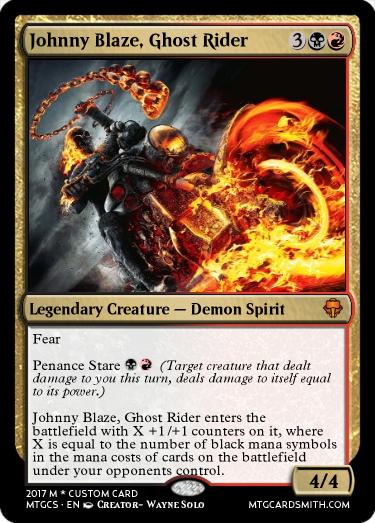 Johnny Blaze Ghost Rider By Onegamaddness Mtg Cardsmith