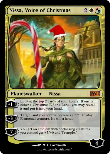 Nissa Voice Of Christmas By Lordfaron269 Mtg Cardsmith