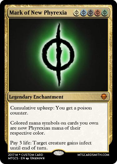 Mark Of New Phyrexia By Redrangerzord92 Mtg Cardsmith