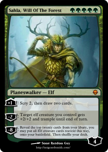 Sahla Will Of The Forest By Manixen Mtg Cardsmith