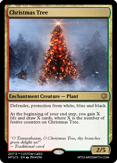 Christmas Tree By Kalammekhar Mtg Cardsmith