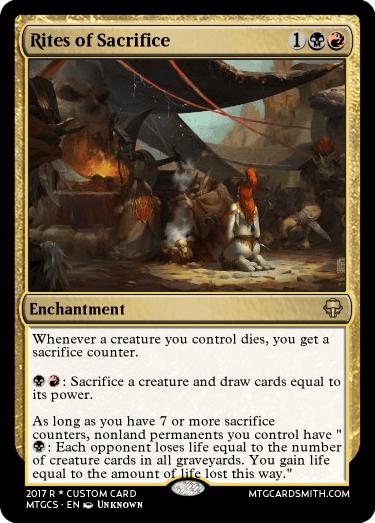 Rites Of Sacrifice By Tookie1 Mtg Cardsmith