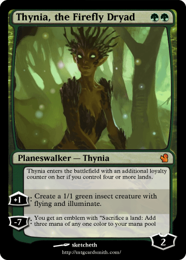 Thynia, the Firefly Dryad