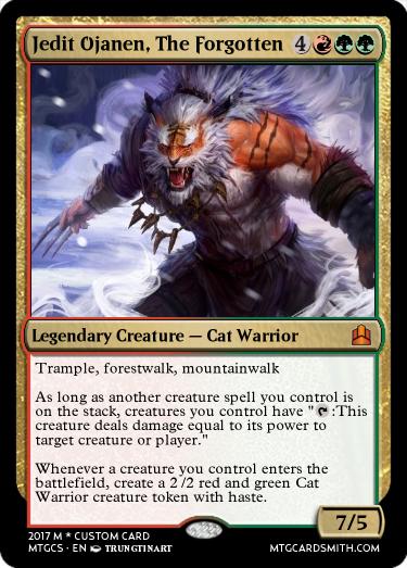 Mtg Cat Warrior Jedit