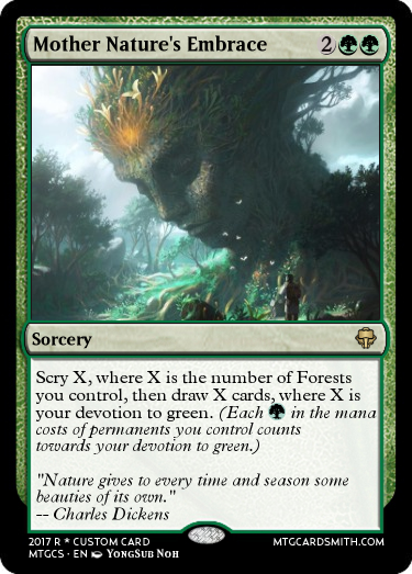 Mother Nature S Embrace By Tenebrisnemo Mtg Cardsmith