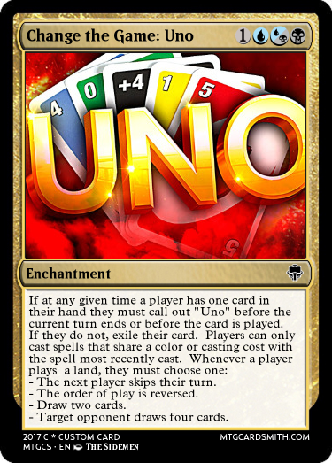 Change the Game: Uno