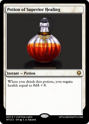Potion of Superior Healing by owarren | MTG Cardsmith