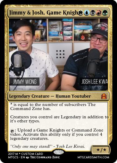 Jimmy Josh Game Knights By Tcgelijah Mtg Cardsmith