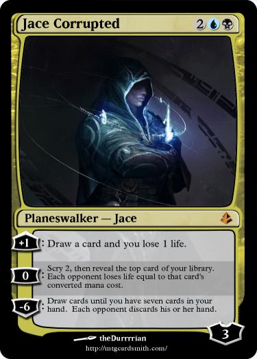 Jace Corrupted By Abzancompany Mtg Cardsmith