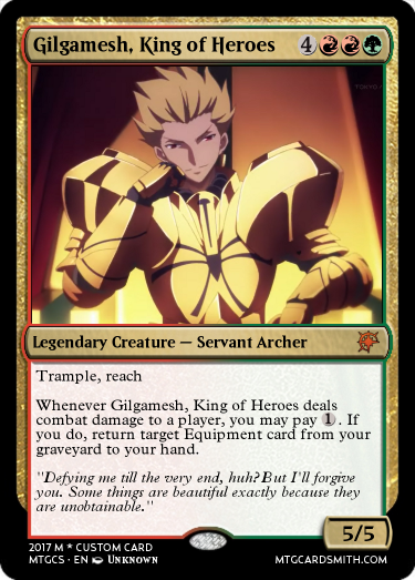 gilgamesh king of heroes by rayearthix mtg cardsmith
