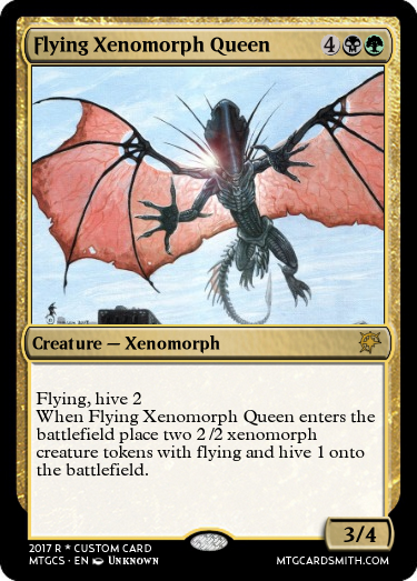 Flying Xenomorph Queen By Blep Mtg Cardsmith