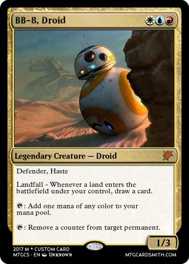 BB-8, Droid by crazedfilms | MTG Cardsmith