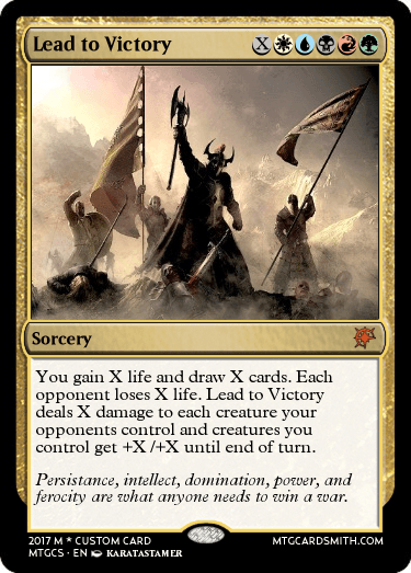 Lead To Victory By Bellycuss Mtg Cardsmith