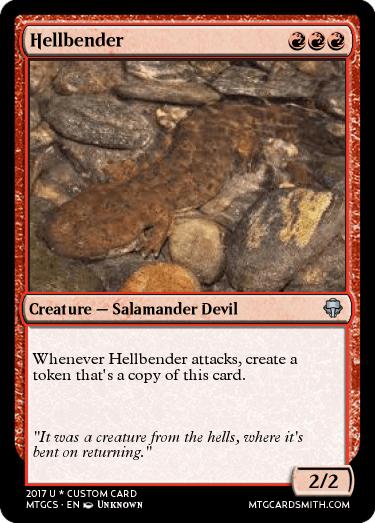 Hellbender by Buforana | MTG Cardsmith