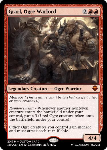 grarl ogre warlord by warriorofnature mtg cardsmith