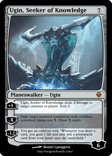 Ugin Seeker Of Knowledge By Zx Tech Mtg Cardsmith