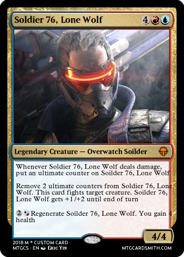 Soldier 76, Lone Wolf by han12301 | MTG Cardsmith