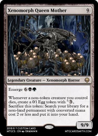 Xenomorph Queen Mother by Meeps | MTG Cardsmith