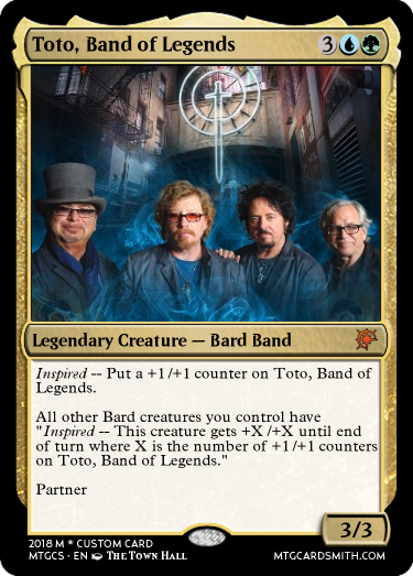 Toto, Band of Legends by dasparkster101 | MTG Cardsmith
