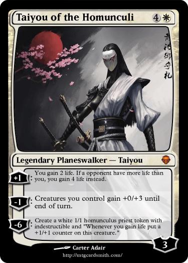 Taiyou of the Homunculi by Voronel | MTG Cardsmith