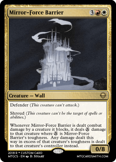 Mirror-Force Barrier
