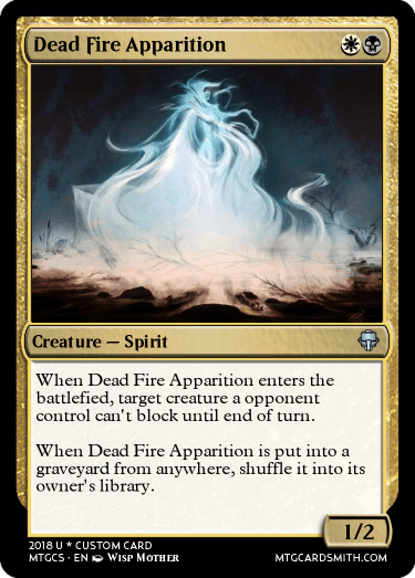 Dead Fire Apparition by Voronel | MTG Cardsmith