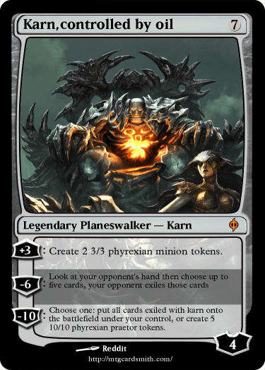 Karn,controlled by oil