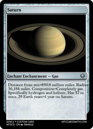 Saturn by CheesecakeDonuts | MTG Cardsmith