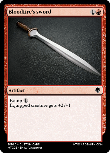 Bloodfire's sword